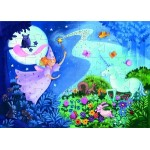 36 pc Djeco Puzzle - Fairy & Unicorn - Silhouette Box