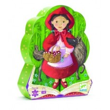 36 pc Djeco Puzzle - Red Riding Hood  - Silhouette Box
