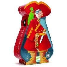 36 pc Djeco Puzzle - Pirate Treasure - Silhouette Box