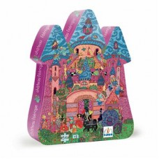 54 pc Djeco Puzzle - Fairy Castle - Silhouette Box