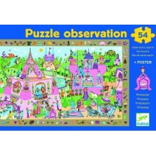 54 pc Djeco Puzzle - Princess (Observation Puzzle)