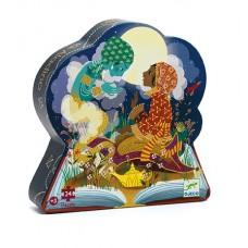 24 pc Djeco Puzzle - Aladdin - Silhouette Box