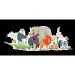36 pc Djeco Giant Puzzle - Animal Parade