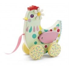 Cotcotte Hen  Pull Along Toy - Djeco