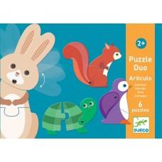 Duo Puzzles 2pc - Animals - Djeco