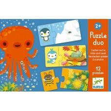 Duo Puzzles 2pc - Hide & Seek - Djeco