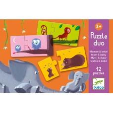 Duo Puzzles 2pc - Mum & Baby - Djeco