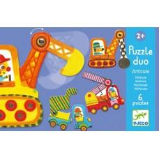 Duo Puzzles 2pc - Vehicles - Djeco