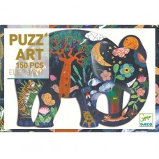 150 pc Djeco - Elephant Art Puzzle