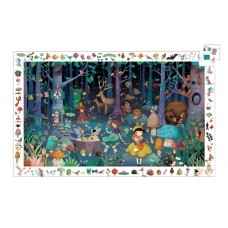 100 pc Djeco - Enchanted Forest Observation Puzzle