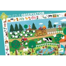 35 pc Djeco - The Farm Observation Puzzle