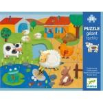 20 pc Djeco - Giant Farm Tactile Puzzle
