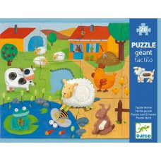 20 pc Djeco - Giant Farm Tactile Puzzle