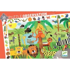 35 pc Djeco - Jungle Observation Puzzle