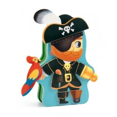 Magnetic Wooden Dressup - Aventuro Pirate - Djeco