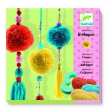 Pom Pom Wool Craft Tassels 3 Beads - Djeco