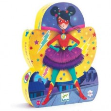 36 pc Djeco Puzzle - Super Star - Silhouette Box