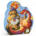 54 pc Djeco Puzzle - Vaillant and the Dragon - Silhouette Box