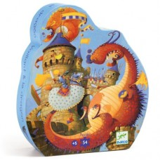 54 pc Djeco Puzzle - Vaillant and the Dragon - Silhouette Box
