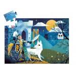 36 pc Djeco Puzzle - Full Moon Knight - Silhouette Box