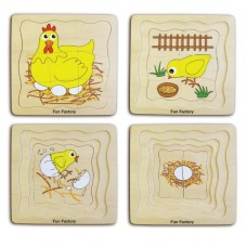 Lifecycle of a Chicken - Wooden Layer Puzzle