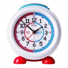 Clock - Easyread Time Teacher Alarm Clock with Nightlight - Red/Blue Face