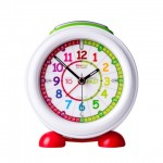 Clock - Easyread Time Teacher Alarm Clock with Nightlight - Rainbow Face