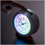 Clock - Easyread Time Teacher Alarm Clock with Nightlight - Red/Blue Face