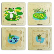 Lifecycle of a Frog - Wooden Layer Puzzle