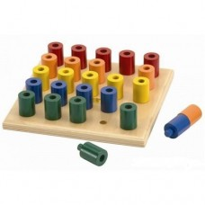 Peg & Stack Wooden Board - Fun Factory