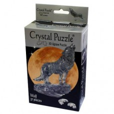 3D Crystal Puzzle - Black Wolf