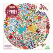 500 pc eeBoo - Blue Bird Yellow Bird Round Puzzle