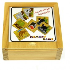 Memory Game Wooden - Australian Animals