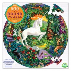 500 pc eeBoo - Unicorns Round Puzzle