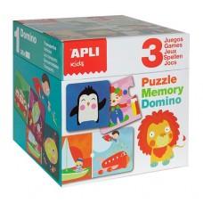 Domino/Memory Cube Puzzle - Apli Kids