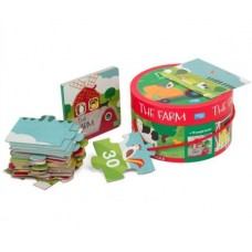 30 pce Sassi - On the Farm - Giant Puzzle & Book