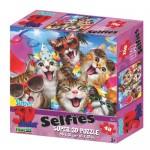 48 pc Puzzle - 3D Cat's Selfie Party