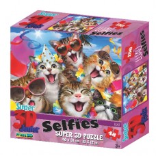 48 pc Puzzle - 3D Cat's Selfie Party
