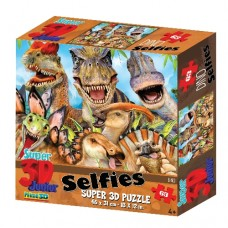63 pc Puzzle - 3D Dino Selfie Party