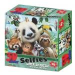 63 pc Puzzle - 3D Zoo Selfie Party