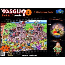 1000 pc Wasgij Puzzle Back to..? #2 14th Century Castle INCLUDES FREE PUZZLE-A-ROUND