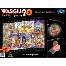 1000 pc Wasgij Puzzle Back to..? #3 Barbers &  Beehives INCLUDES FREE PUZZLE-A-ROUND