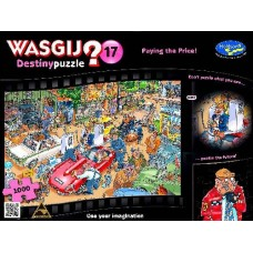 1000 pc Wasgij Puzzle Destiny #17 Pay the Price  INCLUDES FREE PUZZLE-A-ROUND