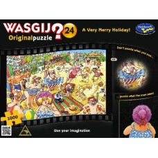 1000 pc Wasgij Puzzle Original #24 A Very Merry Holiday