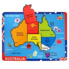 Australian Map Wooden Puzzle - Fun Factory