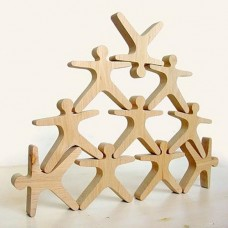 Balancing People - 10 Wooden pieces