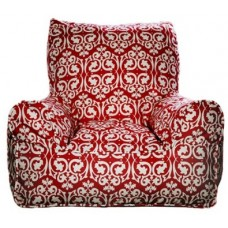 Bean Chair - Damask Red