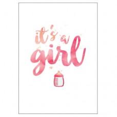 Birthday Card - It's a Girl