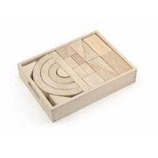 Blocks in Tray Wooden 42 pcs - Viga