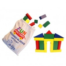 Blocks in a Bag Wooden 52 pcs - Fun Factory